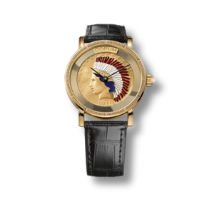 CORUM HERITAGE Coin Watch Indian Head red. C082/02355
