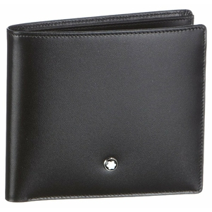 Бумажник Montblanc Meisterstuck Men Black Wallet 7163
